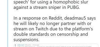 Deadmau5 Offers Damage Control Apology After Using Homophobic Slur On Twitch?