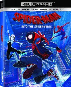 Spider-Men Spider-Verse 4K Blu-ray DVD release
