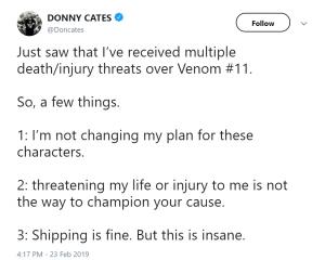 donny cates venom symbrock tweet