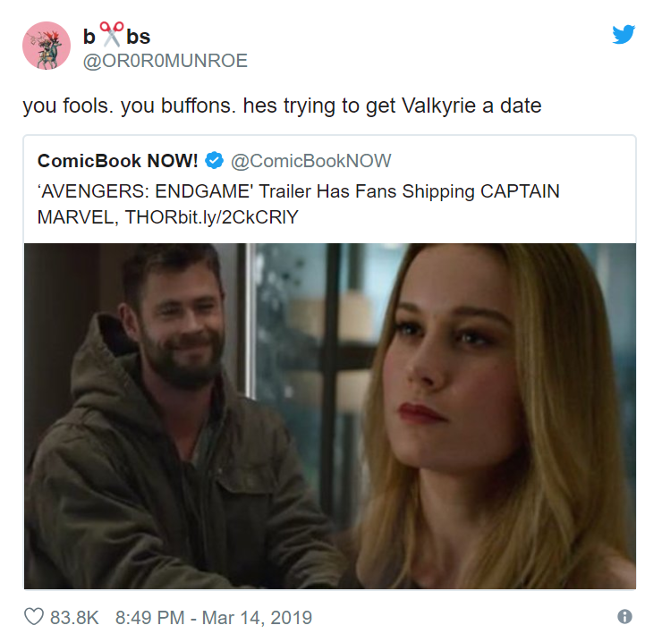 Captain marvel Thor Twitter