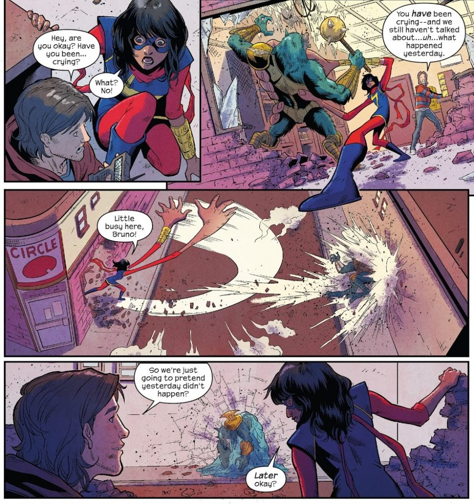 The Magnificent Ms Marvel Issue 1 review Bruno