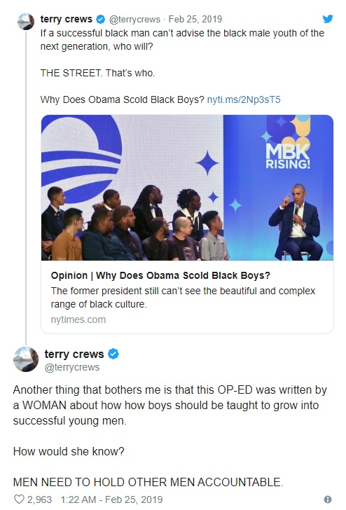 Terry Crews Tweet parenting
