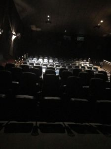 Empty theater during Cryathon