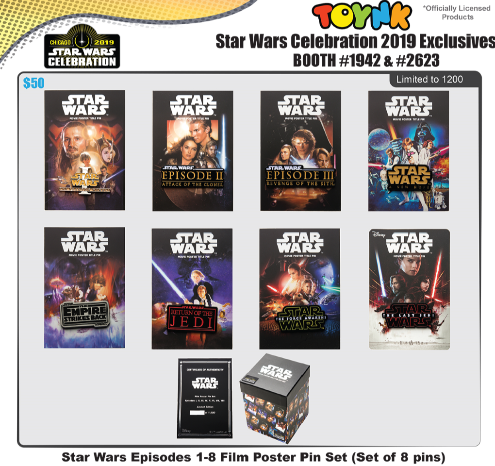 star wars celebration 2019 Toynk Toys pins