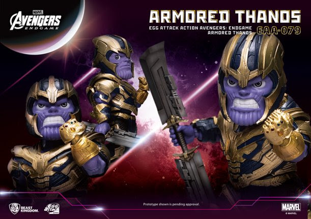 Armored Thanos Egg Attack PREVIEWS figure