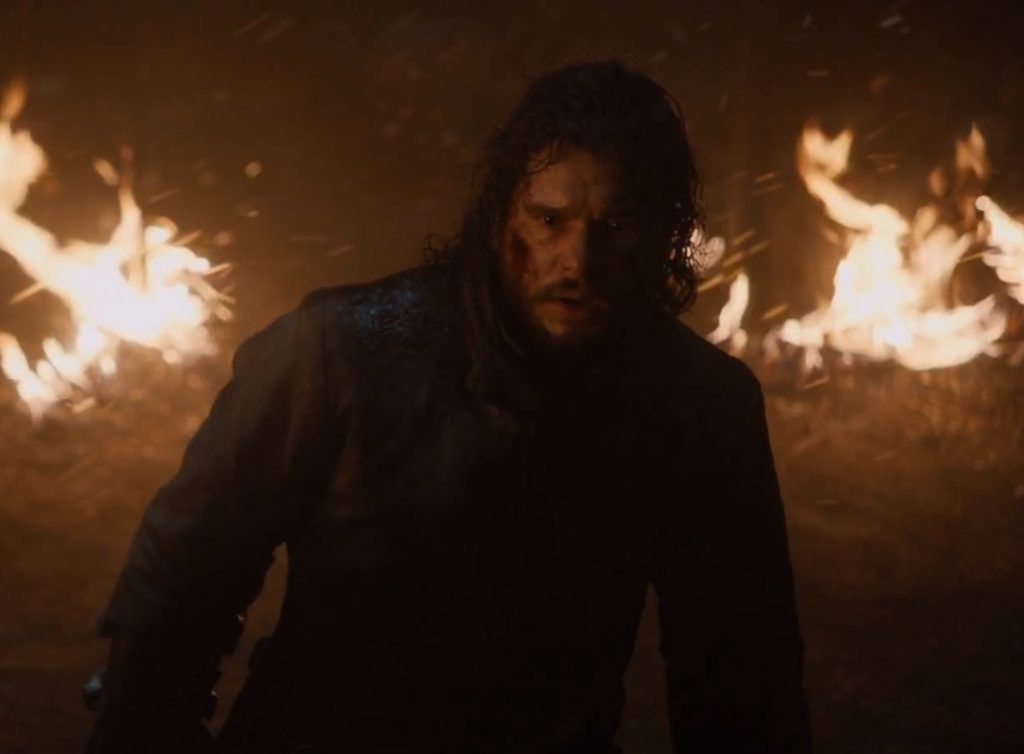 Jon Snow screaming