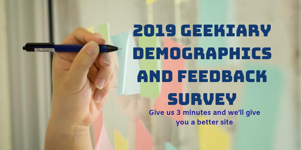 Geekiary Demographics Survey
