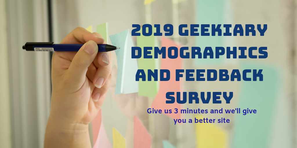 Geekiary Demographics Survey