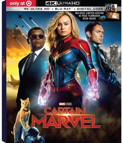 captain marvel Target blu-ray dvd