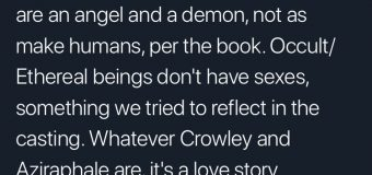 "Neil Gaiman Calls 'Good Omens' a ""Love Story"""
