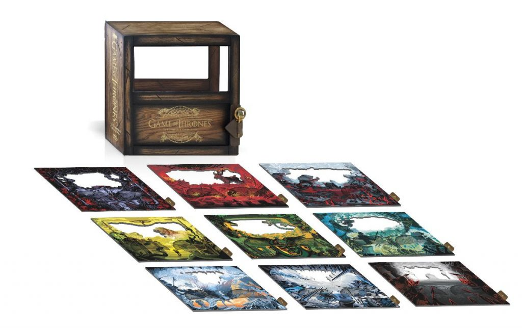 game of thrones complete collection wooden shadow box