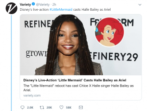 Halle Bailey as Ariel in The Little Mermaid