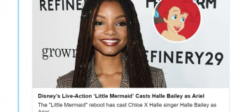 "Disney Casts Incredibly Talented Halle Bailey as Ariel in Live-Action ""The Little Mermaid"""