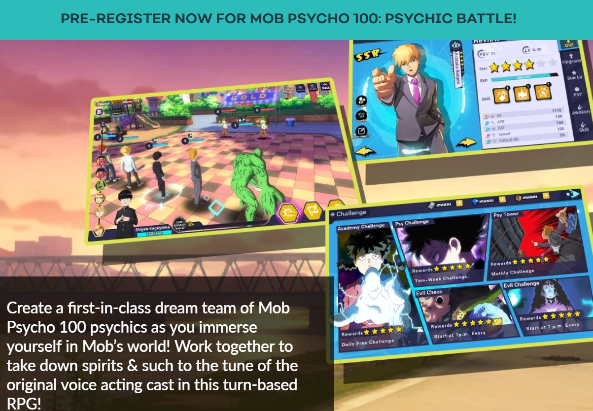 mob psycho 100 psychic battle game