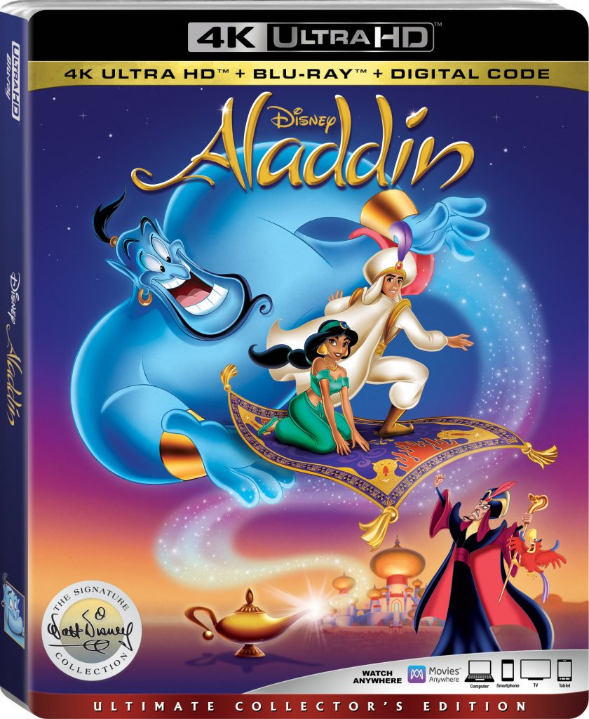 Aladdin animated 4K Walt Signature collection