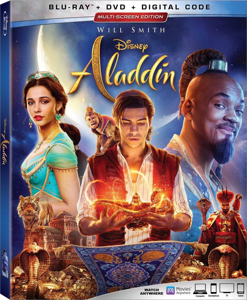 Aladdin live-action Blu-ray DVD 4K release 2019