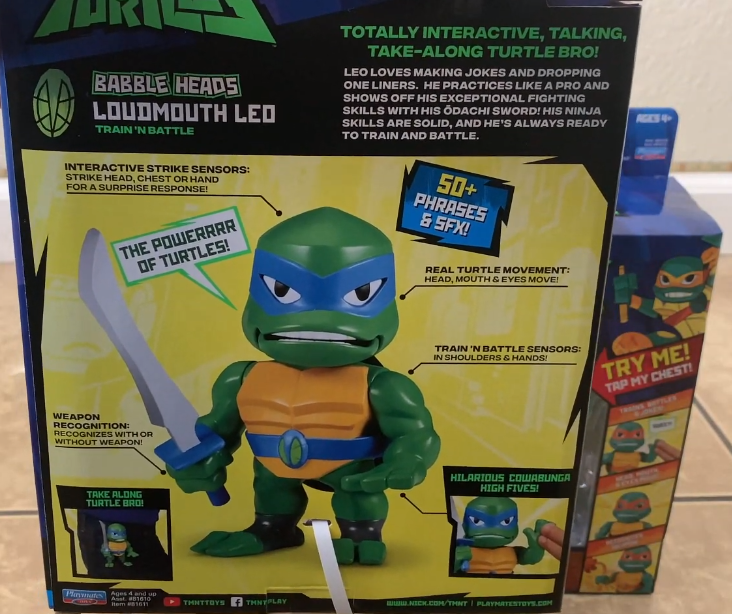 rise of the tmnt babble heads playmates toys