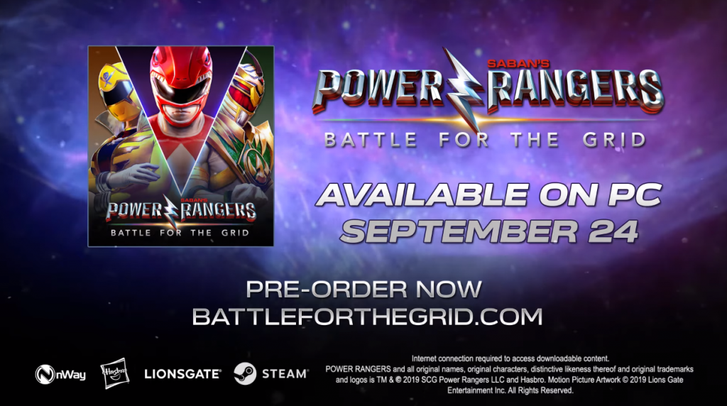 power rangers battle for the grid PC September release