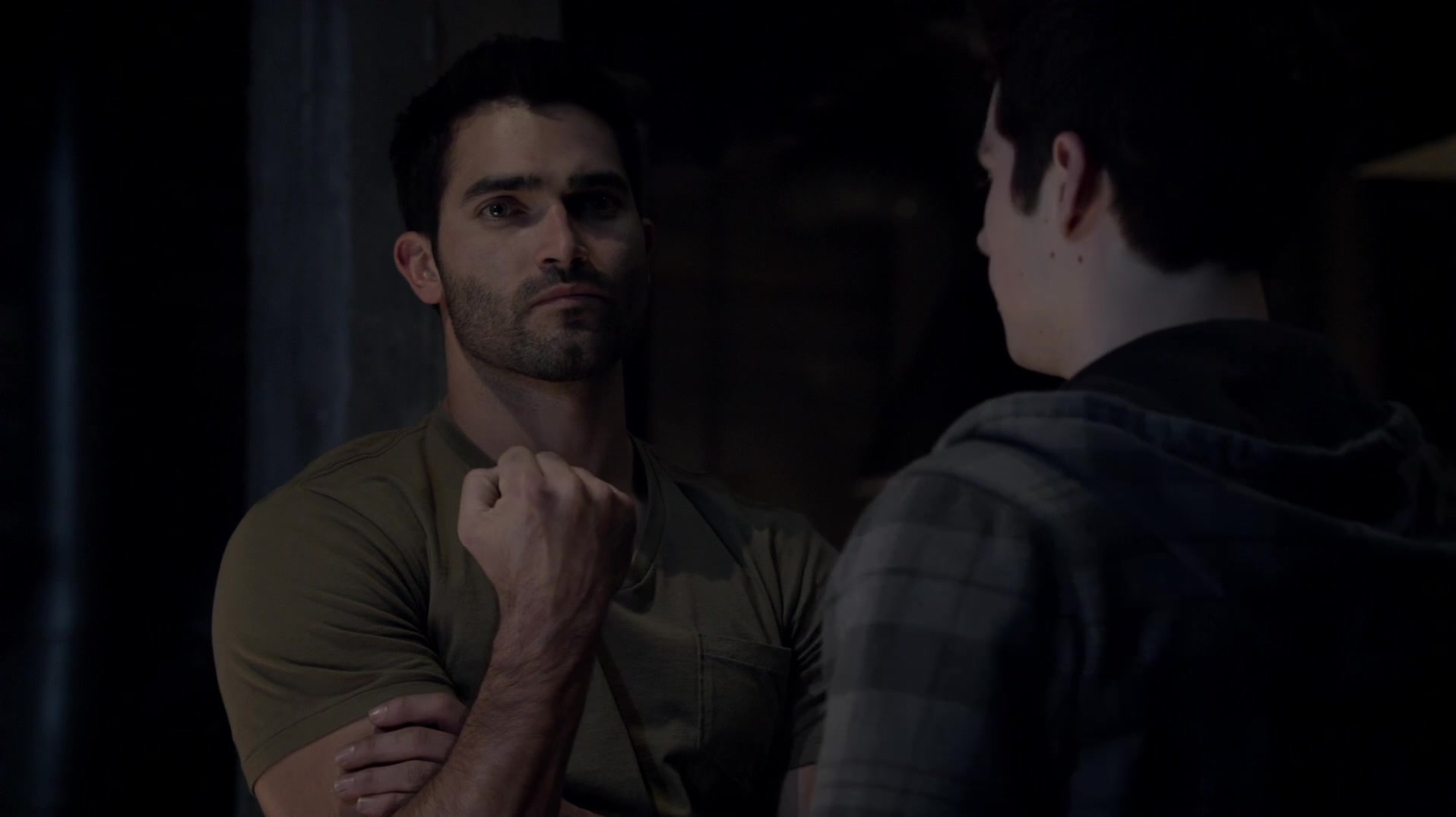 Derek's showing off his fist in season three