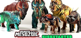 Kickstarter for  New Ceratopsian Line of Collectible Dinosaur Figures Launched by Creative Beast Studio!