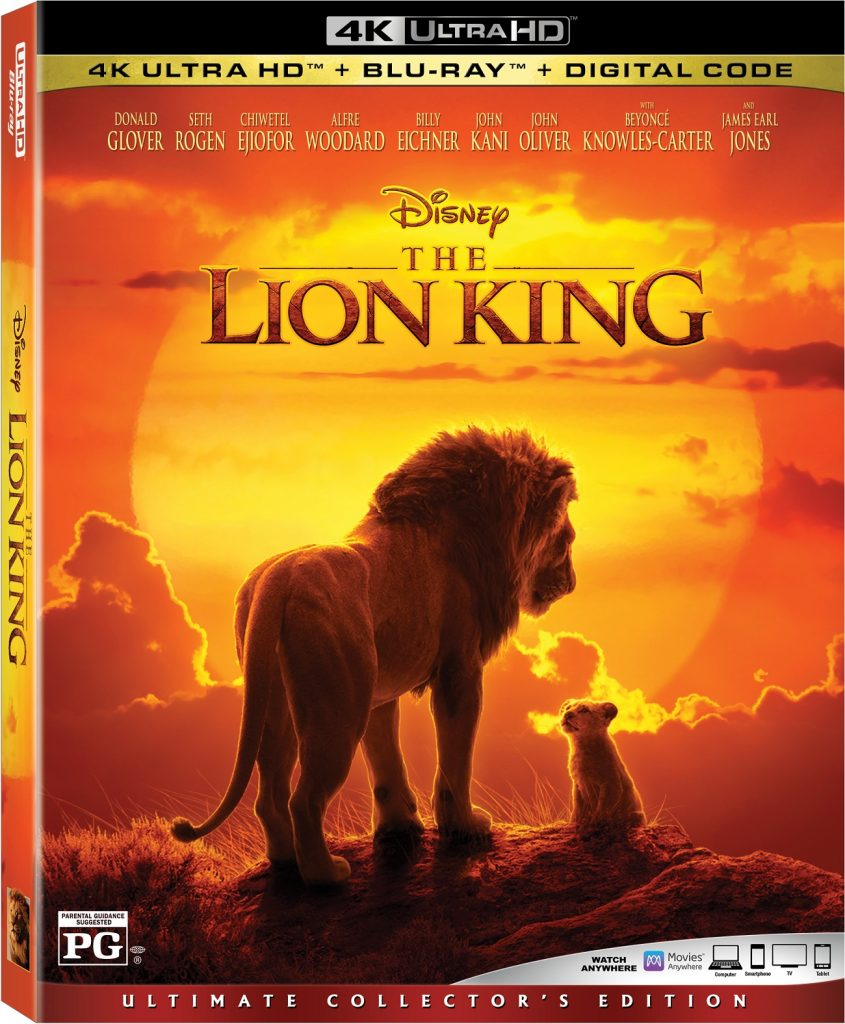 The Lion King 2019 Digital 11 Oct 4k Uhd Blu Ray Dvd