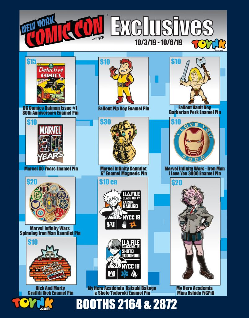 Toynk Toys New York Comic Con 2019