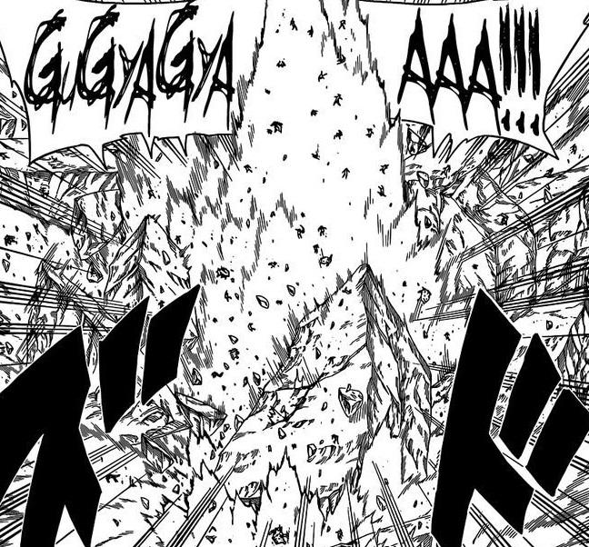 Sakura punch catch up to Naruto and Sasuke
