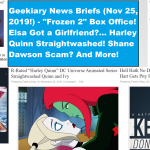 frozen 2 geekiary news briefs november 25 2019