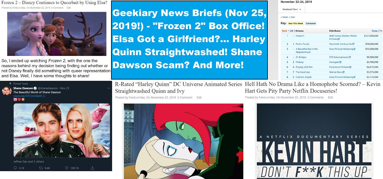 frozen 2 geekiary news briefs november 25 2019