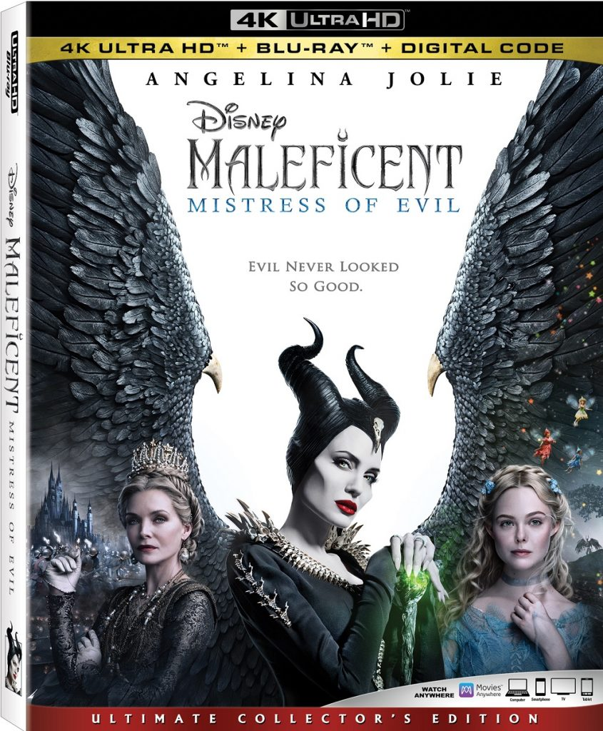 Maleficent 2 Mistress of Evil Digital Blu-ray DVD release