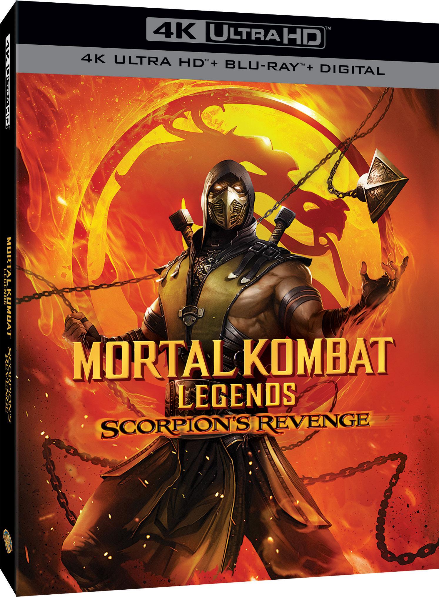 Mortal Kombat Legends Scorpion S Revenge Dvd Blu Ray April 28