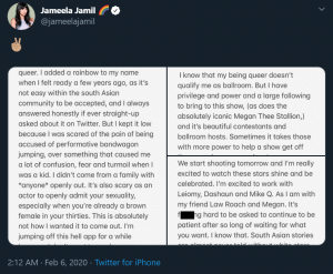 Jameela Jamil coming out legendary backlash HBO