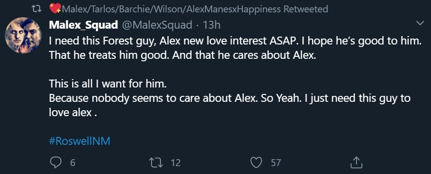 Malex Alex new love interest tweet