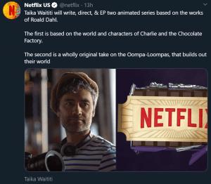 Taika Waititi Netflix Roald Dahl