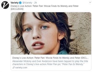 Disney Live-Action Remake of 'Peter Pan' Casts Peter and Wendy!