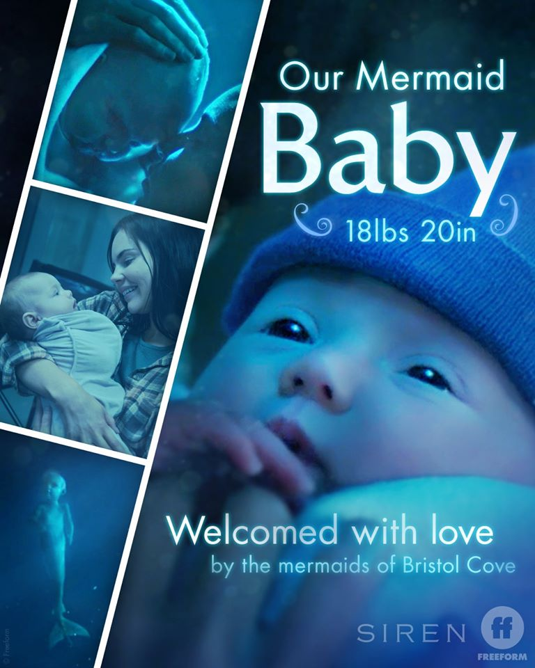mermaid birth announcement