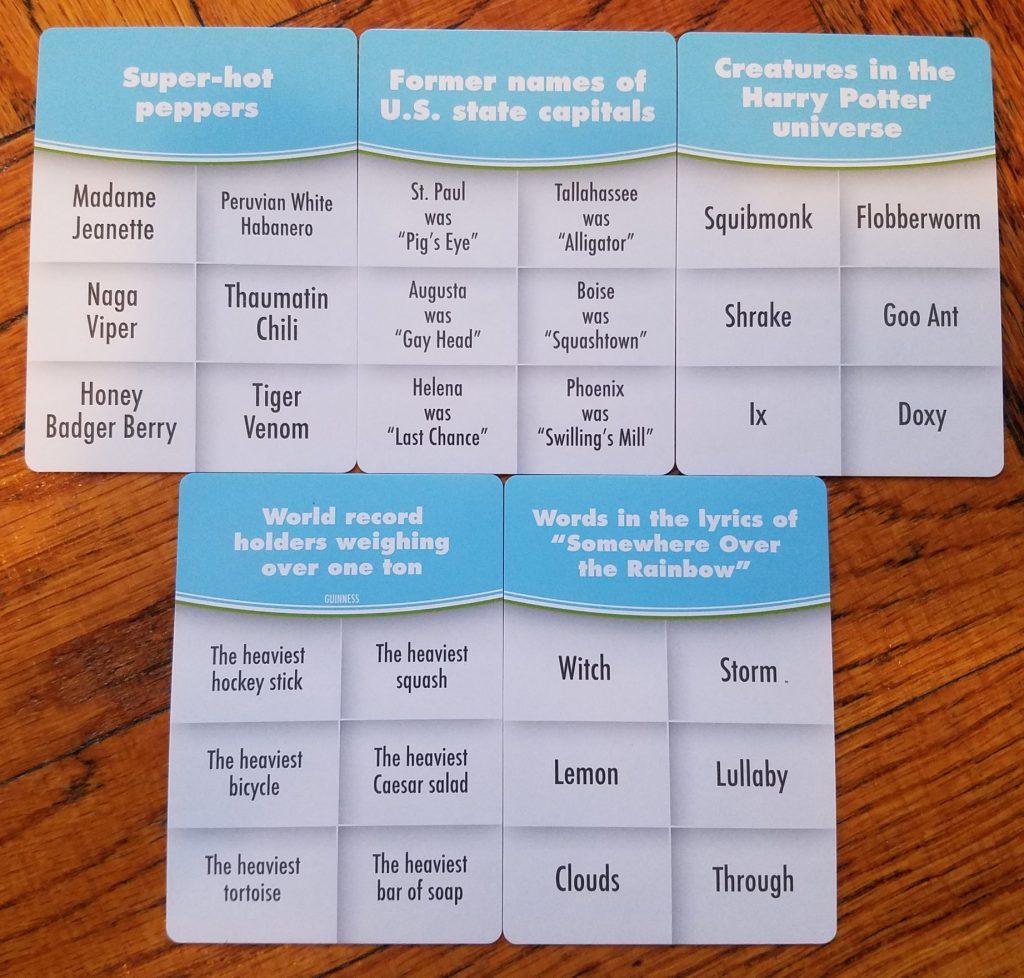 Half Truth cards