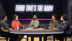 Baron Vaughn and his guests on The Great Debate