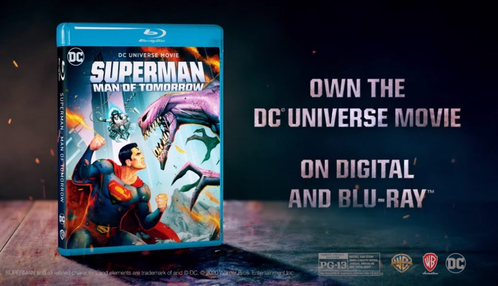 Superman man of tomorrow blu-ray