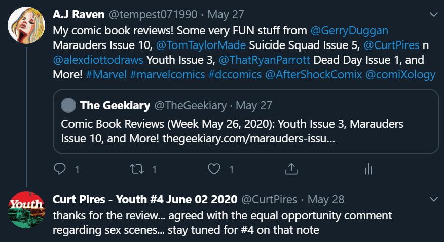 Youth Issue 3 tweet