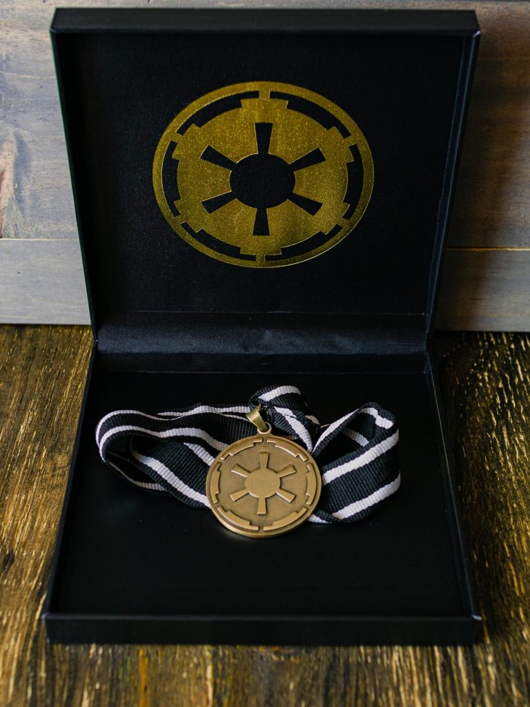 Star Wars The Mandalorian Cog Medal Necklace Toynk