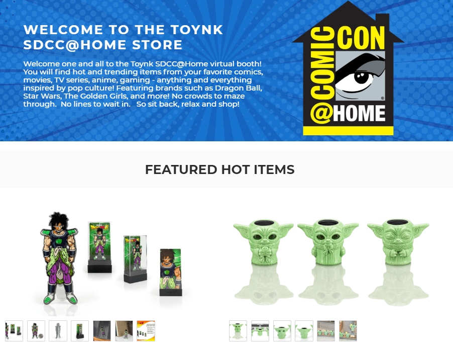 Toynk SDCC at Home