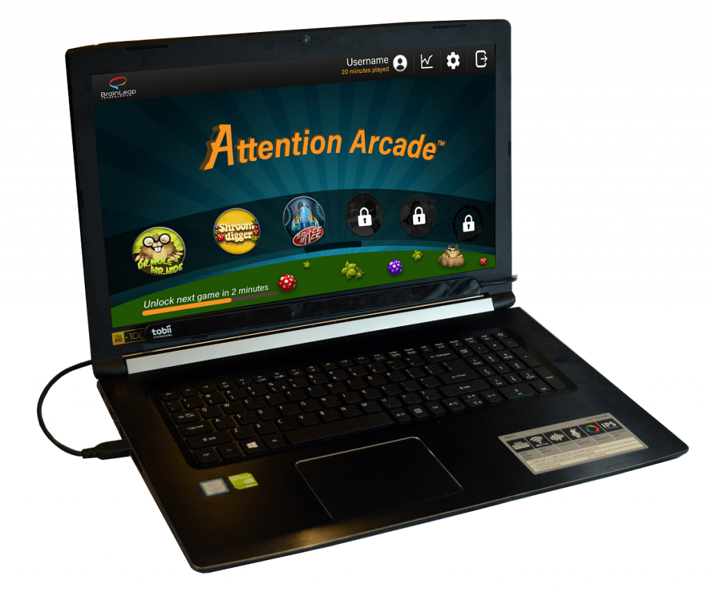 Attention Arcade BrainLeap games
