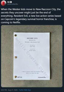 resident evil netflix show