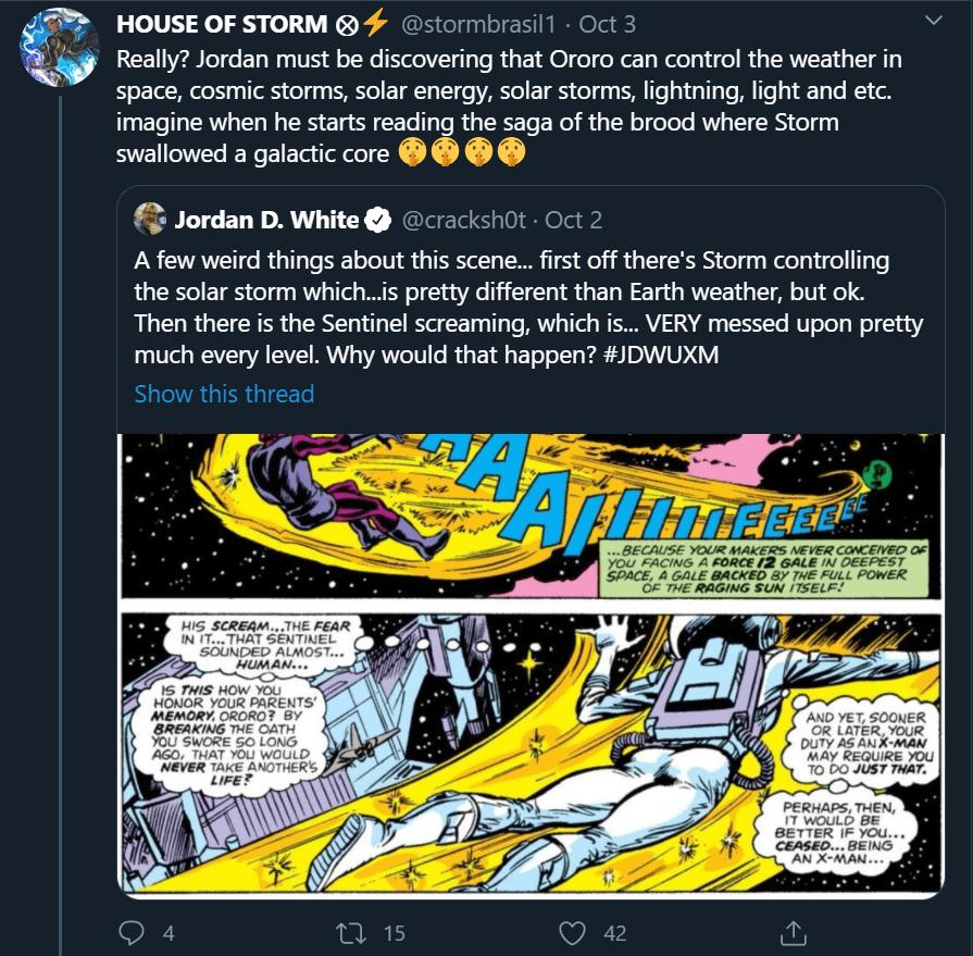 Jordan D White tweet Storm power