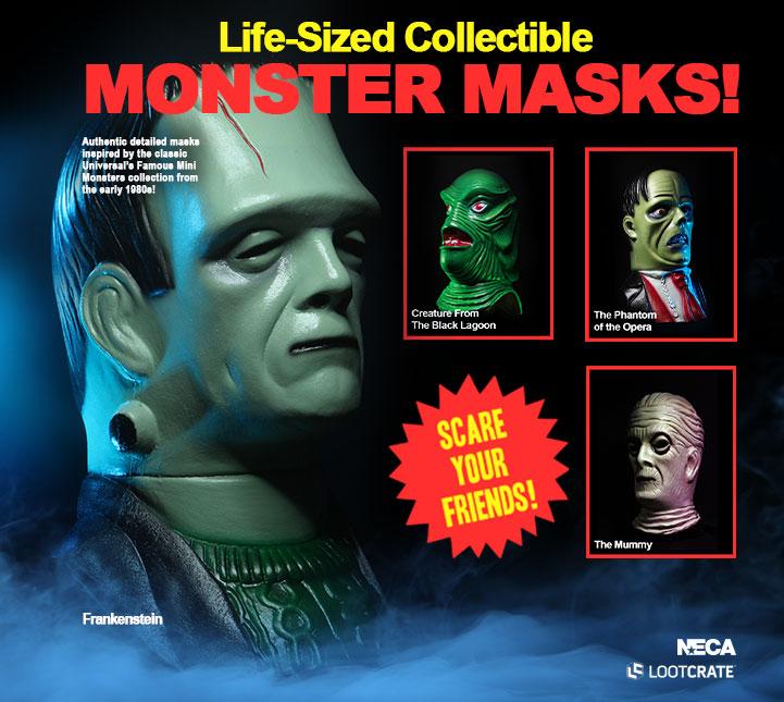 Universal Monsters Mask Series Loot Crate 2020