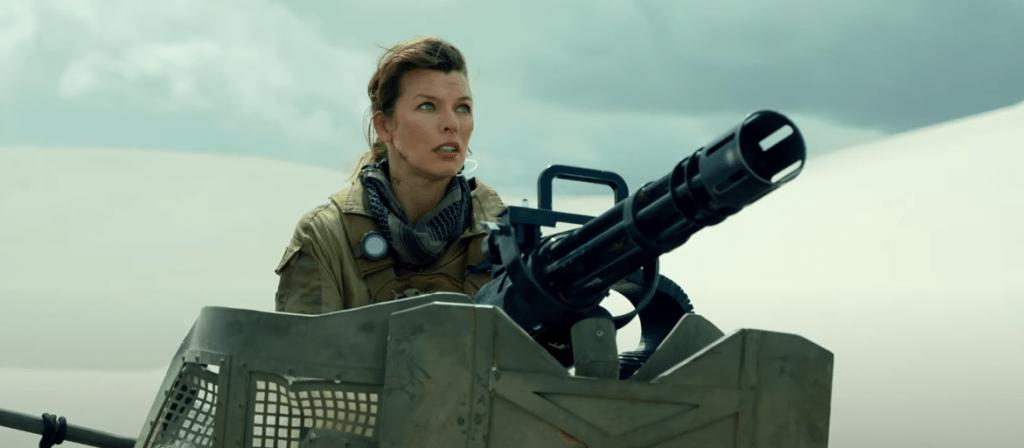 """Milla Jovovich as Artemis in """"Monster Hunter"""" (Image: Screengrab)"""