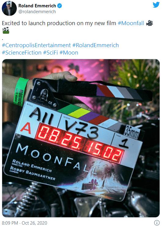 Moonfall filming 2020