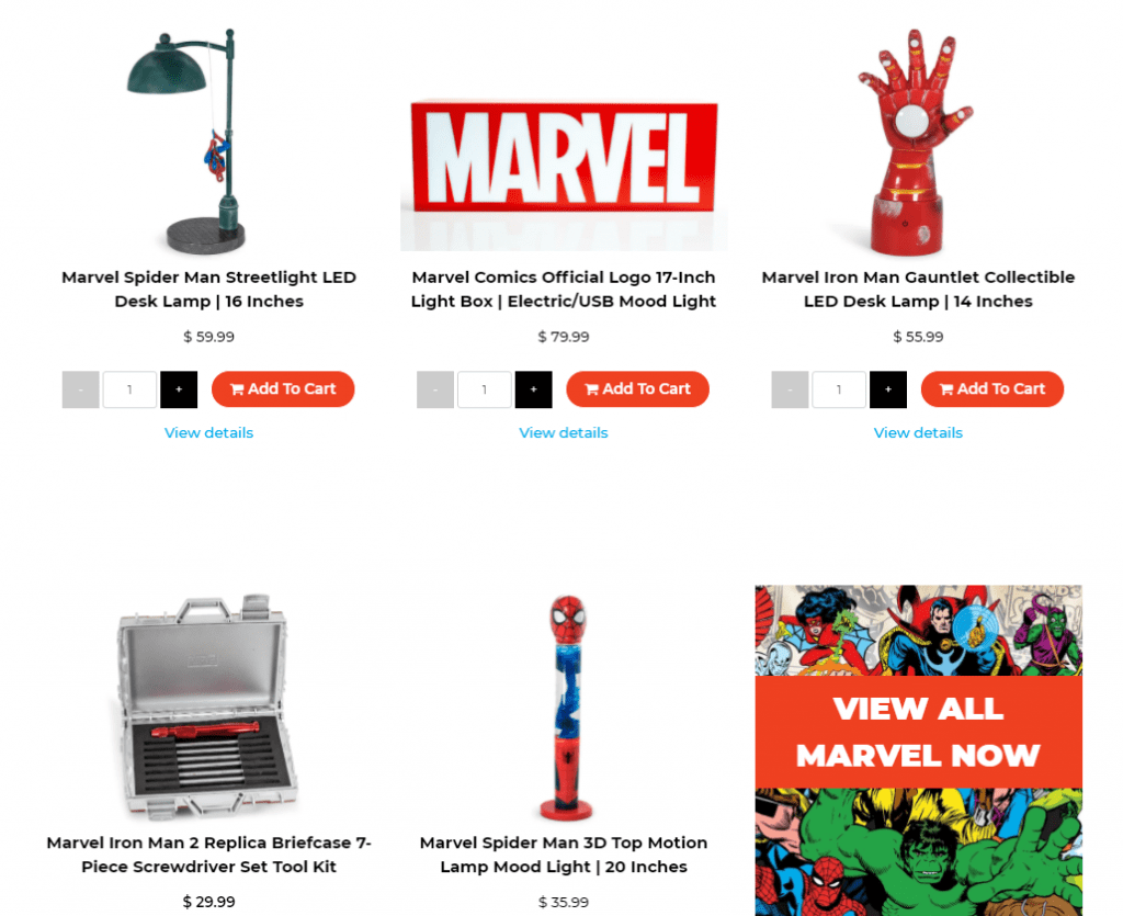 Toynk Marvel Home Goods
