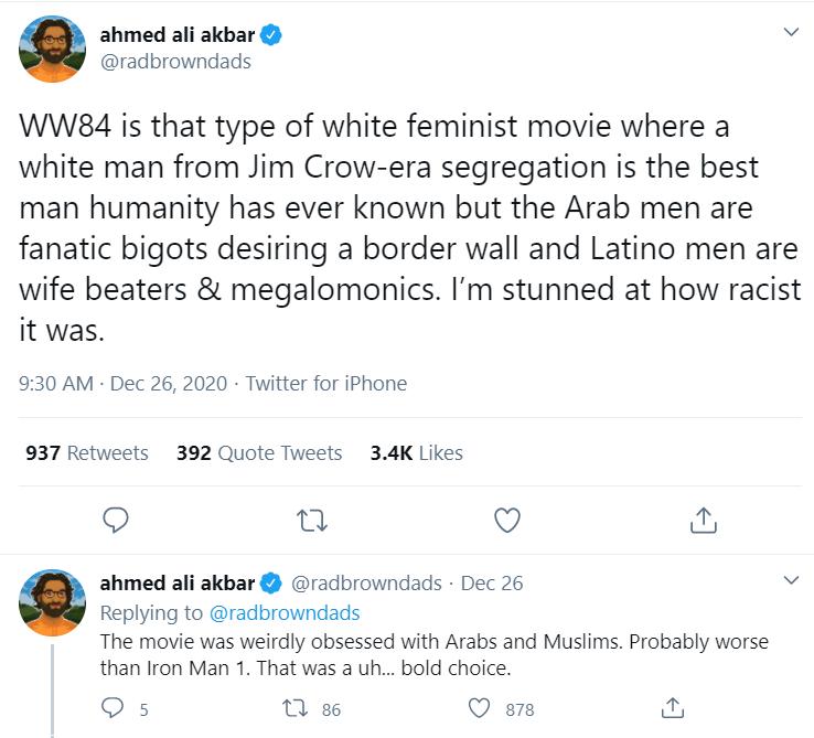 Wonder Woman 1984 Islamophobia